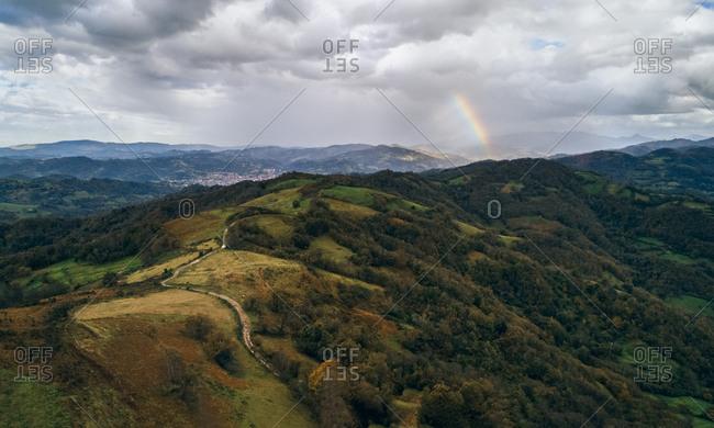 Spain- Asturias- Mountain landscape in autumn
