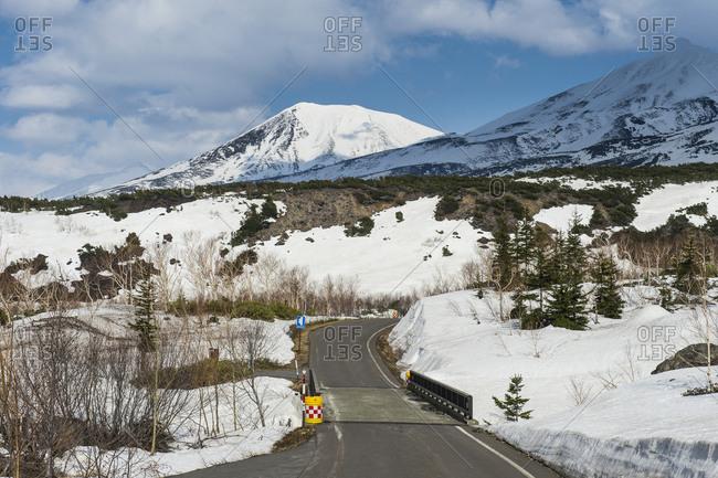 Hokkaido- snowcapped mountains in Daisetsuzan National Park