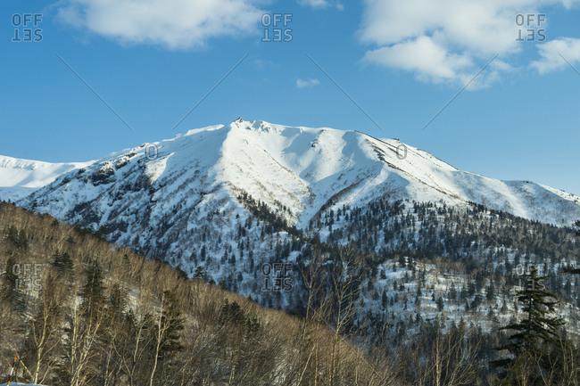 Hokkaido- snowcapped mountain in Daisetsuzan National Park