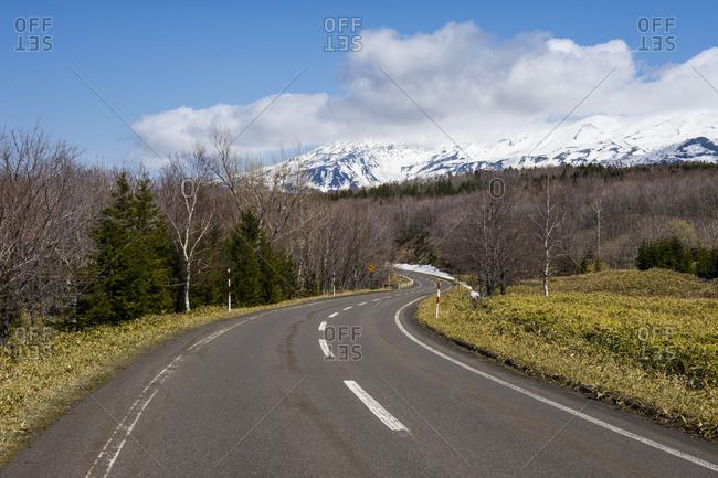 Hokkaido- Shiretoko National Park- empty road