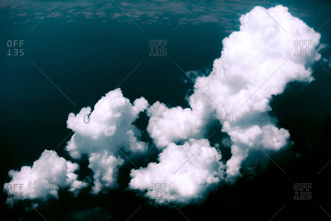 Spain- cloud formation- aerial view