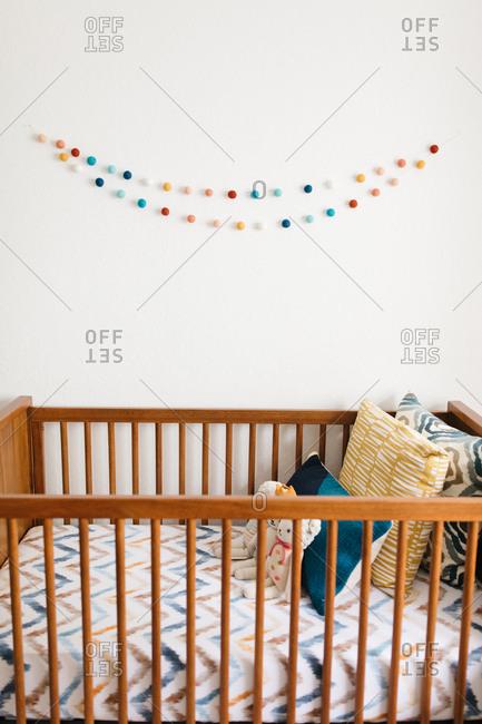 Crib in a nursery