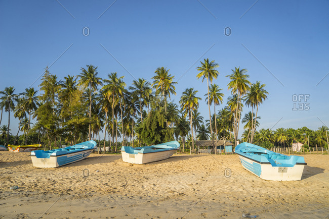 October 28, 2017: Sri Lanka, Eastern Region . Nilaveli beach it is a long sandy beach in the district of trincomalee. After the 2004 tsunami, the area is recovering its natural appearance and becoming a popular tourist destination