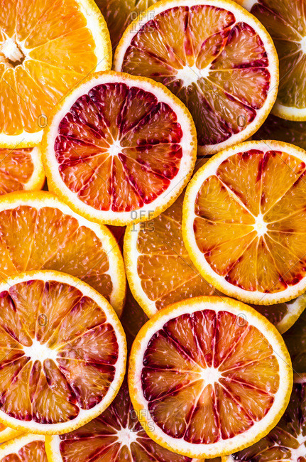Blood Orange Slices Macro