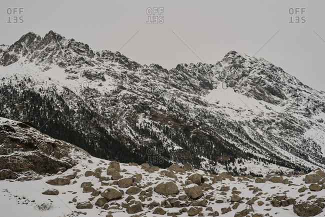 Snowy landscape in the Pyrenees