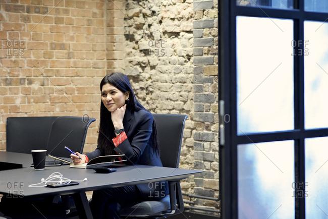 Asian businesswoman in an office meeting