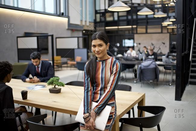 Portrait of an Asian businesswoman in an office
