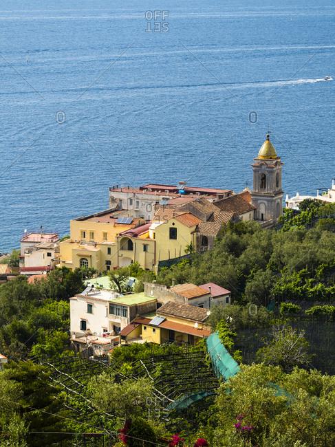 Italy- Campania- Gulf of Salerno- Sorrent- Amalfi Coast- Punta Lagno- Massa Lubrense and Santa Maria delle Grazie