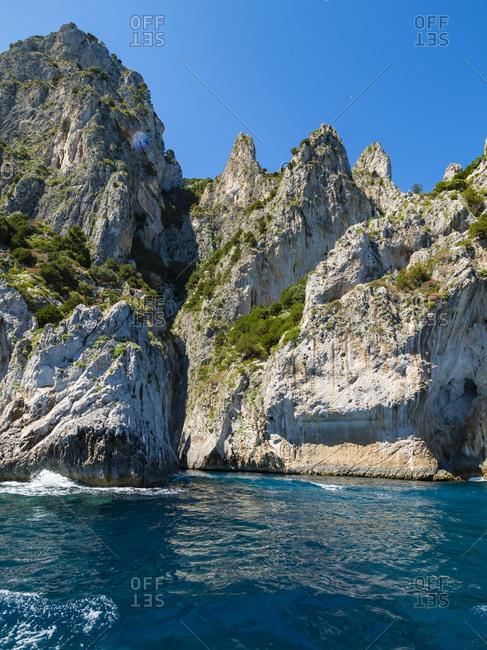 Italy- Campania- Capri- Punta della Chiavica- white grotto