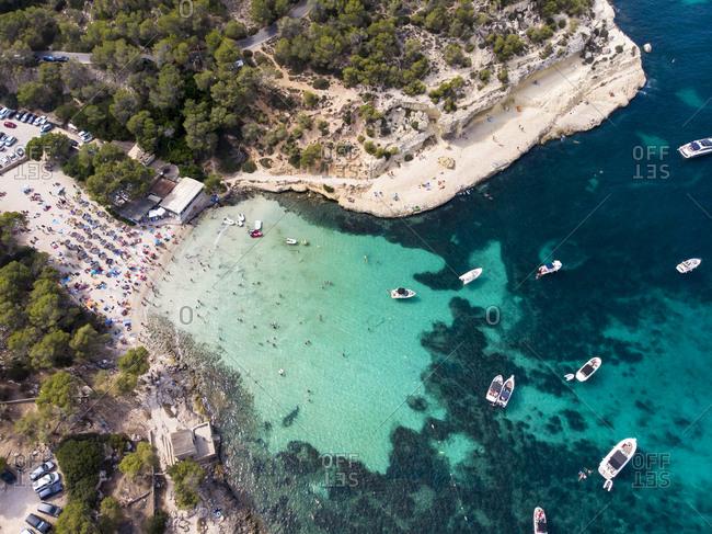 Spain- Mallorca- Palma de Mallorca- Aerial view of Calvia region- El Toro- Portals Vells