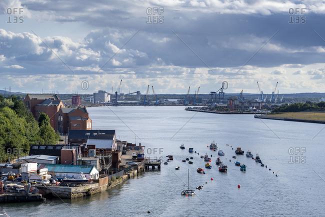 United Kingdom- England- North Shields and River Tyne