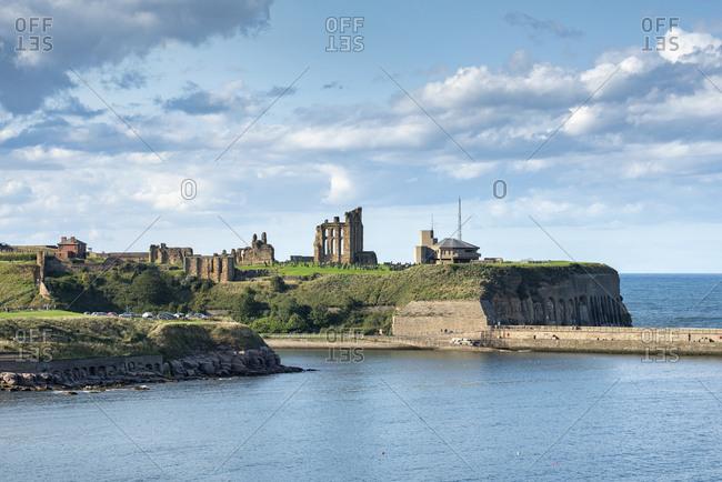 United Kingdom- England- Monastery of Tynemouth and coastguard station- North Sea