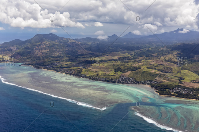 Mauritius- Southwest Coast- Indian Ocean- Aerial View