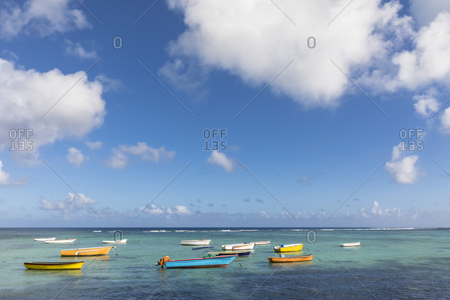 Mauritius- West Coast- Indian Ocean- Trou Aux Biches- fishing boats