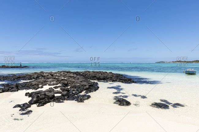 Mauritius- Flacq- East Coast- Fisherman at beach of Belle Mare
