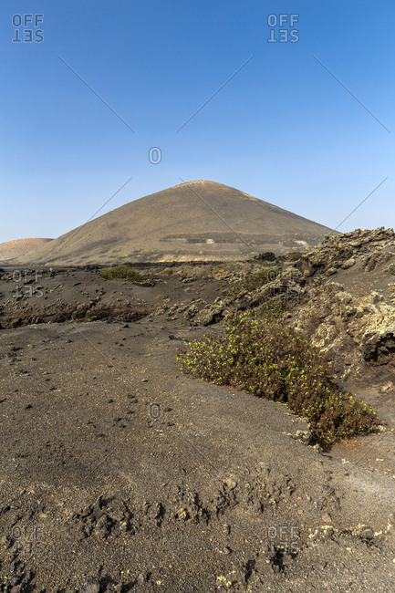 Spain- Canary Islands- Lanzarote- Natural Park of the Volcanoes