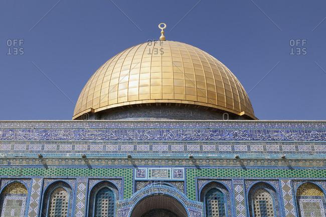 October 14, 2018: Israel- Jerusalem- Dome of the rock- golden cupola