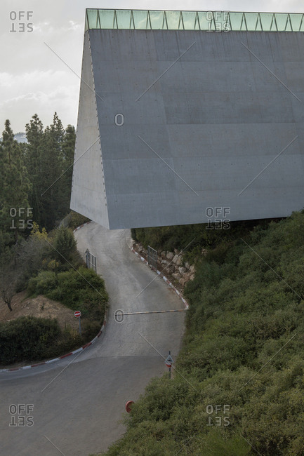 October 16, 2018: Israel- Jerusalem- Herzlberg- Yad Vashem Holocaust History Museum- memorial