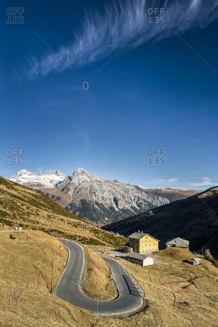 Switzerland- Grisons- Hinterrhein Valley- Spluegen Pass