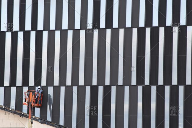 construction worker heavy equipment stock photos - OFFSET
