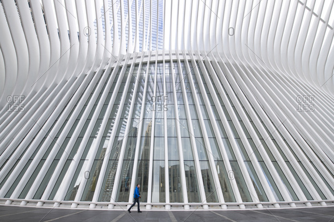 December 6, 2018: Oculus building in Lower Manhattan, New York City, New York. The Oculus is a train station at the World Trade Center site.