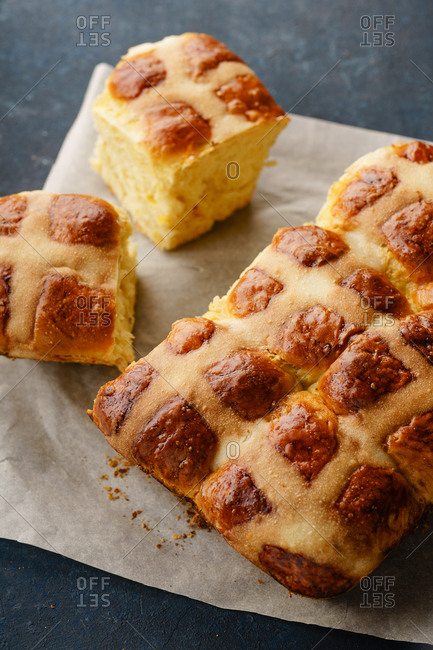 Holiday easter hot cross buns
