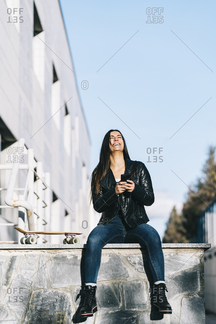Woman chatting on the mobile phone