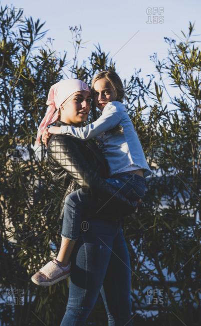 Girls with cancer bandana - Offset