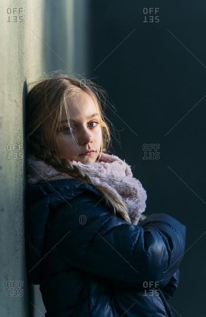 blonde kid portrait