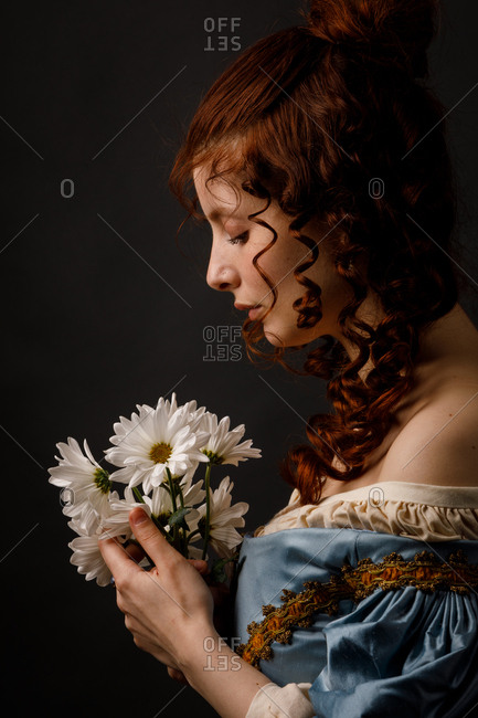 Beautiful woman in medieval clothing