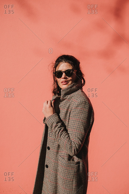 Attractive stylish lady in sunglasses