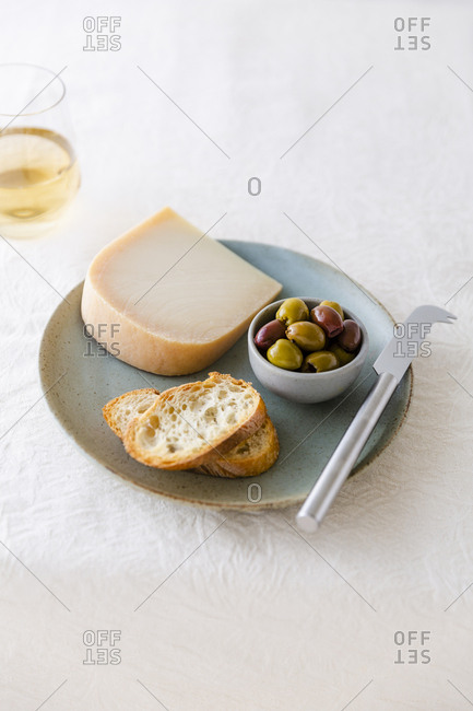 cheese and olive snack