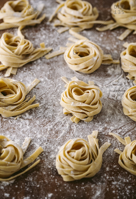board of fresh fettuccine bundles