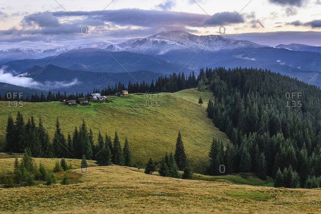 Hoverla mountain in the Carpathian Mountain Range, Ukraine