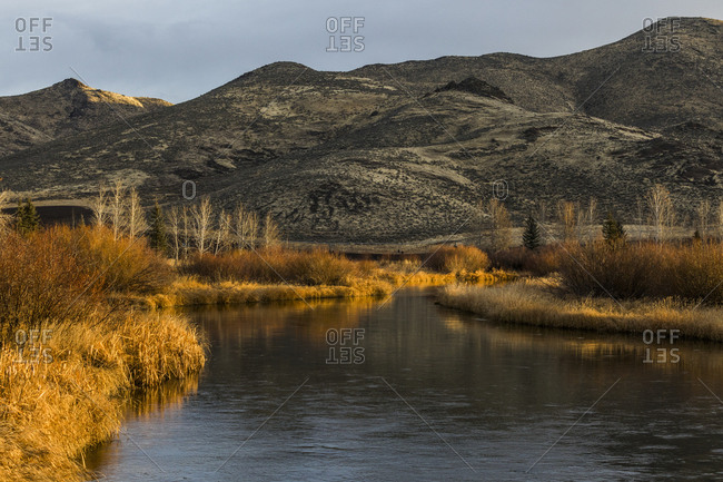 River and hill in Picabo, Idaho