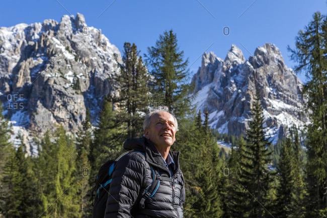 Man by Tre Cime di Lavaredo, Italy