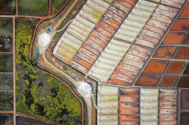 Salt flats from above