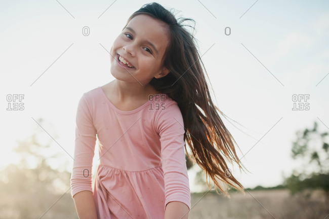 Smiling tween girl