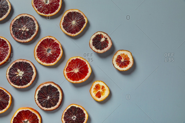 Blood orange fruit slices