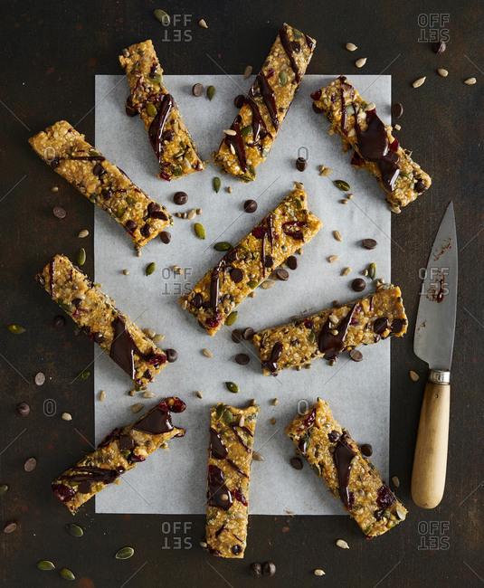 Homemade grain protein bars