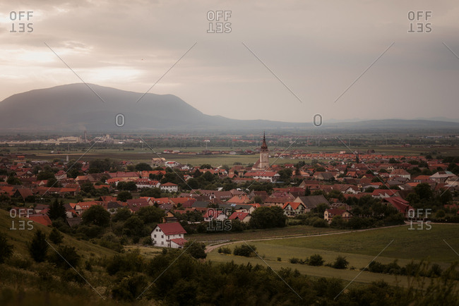 Sanpetru, Romania - May 26, 2018: A village in Transylvania