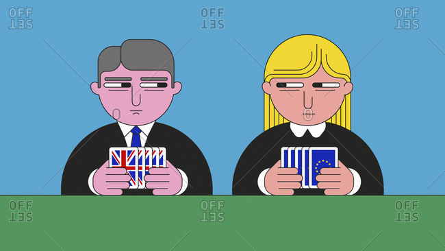 UK and European Union politicians keeping their cards close to their chest