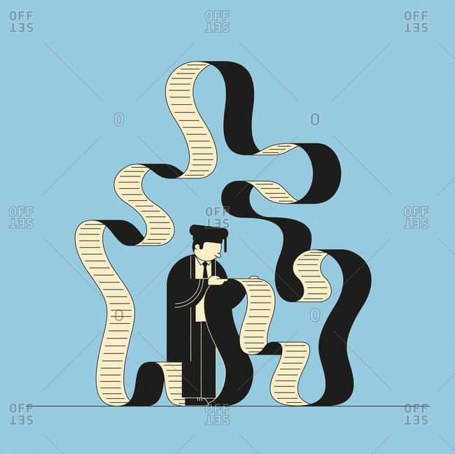 Graduate reading infinite bill