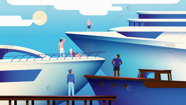 Hierarchy of people envying larger yachts