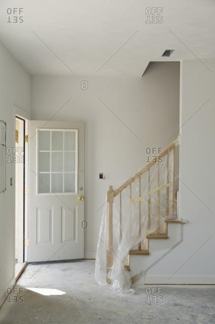 Entryway of house under construction,Norfolk, Virginia, USA