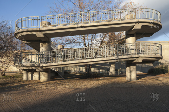 Inclined Pedestrian Walkway,Richmond, Virginia, USA