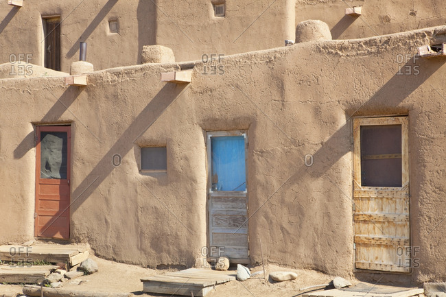Adobe Buildings of Taos,Taos, New Mexico, USA
