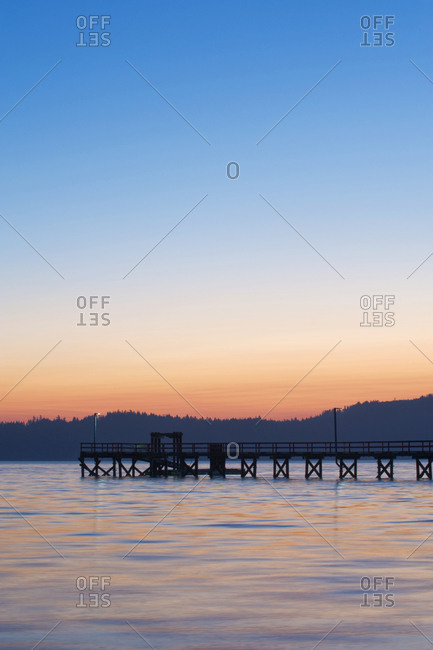 Government Pier at Dawn,Salt Spring Island, British Columbia, Canada