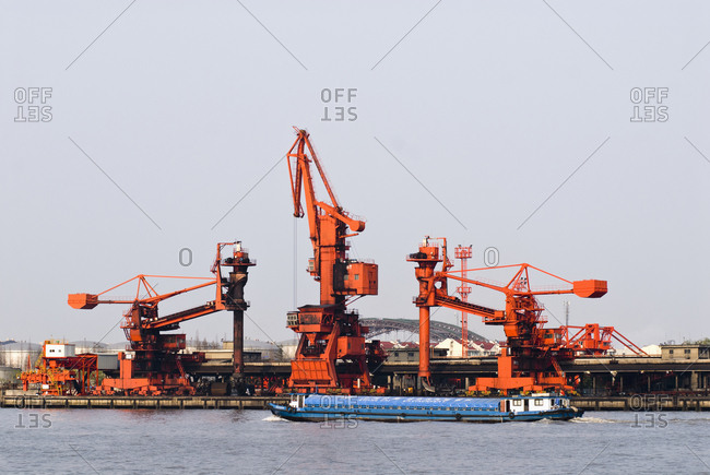 Industrial Cranes at Port