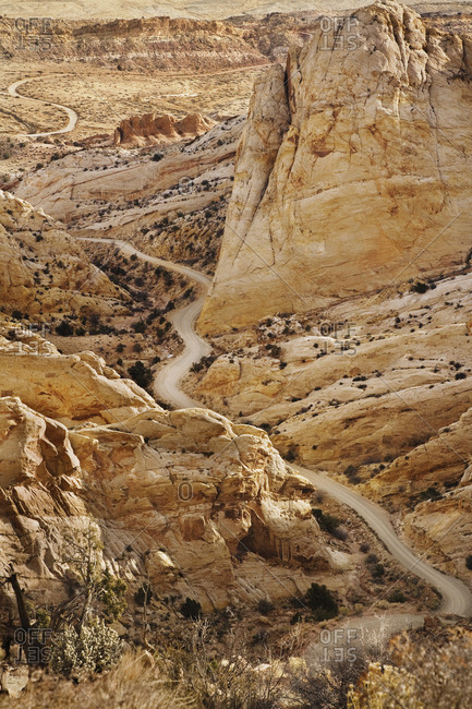 Road Through Craggy Desert - Offset